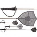 groothandel Speelgoed: Uitschuifbare vliegenmepper, zwaard, ca. 11,5 cm