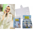 wholesale Coats & Jackets: Rain poncho with hood, one size, 36 pieces