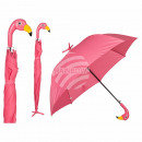 Ombrello, Flamingo con supporto, D: circa 96 centi