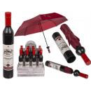 Taschen-Regenschirm, Weinflasche, D: ca. 90 cm