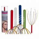 wholesale Drugstore & Beauty: Metal head massager, Colours, with 12 Massa Gest