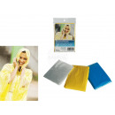 wholesale Coats & Jackets: Hodded rain poncho, one size, 3 colours ass., in p