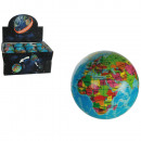 Soft bouncing ball, Earth, ca. 7,5 cm, 24pcs per d