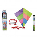 Nylon kite with storage bag, Rainbow, ca. 88 x 82