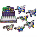 Mood Ring, Butterfly, size adjustable, 6-fac