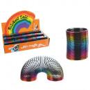 Spirale plastique, Rainbow, env. 5 cm, 12 pièces p