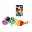 wholesale Erotic-Accessories: Knitted warmer, Willy Rainbow, ca. 16 cm, on blist