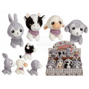 Plush Animals, Big Eyes Farm Animals in Paper Bag,