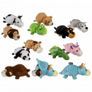 Plush animals for carding, zoo animals, about 36 c