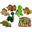 wholesale Blocks & Construction: Plush Dinosaur,  about 16 cm, 6 times assorted