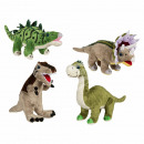 Plush dinosaurs, about 31 cm, 4 pcs assorted
