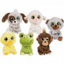wholesale Dolls &Plush: Plush Animals, Big  Eyes, about 20 cm, 6- assorted