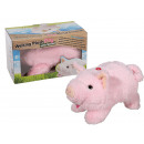 Running Plush Pig with Sound, about 25 cm, for