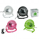 wholesale Air Conditioning Units & Ventilators: Desktop fan with USB plug, ca. 15 x 14,5 cm, 4 col