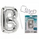 Silver foil foil balloon, letter B, approx.