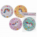 Party paper plate, cartoon unicorn, approx. 23 cm