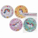 mayorista Articulos de fiesta: Party paper plate, cartoon unicorn, aproximadament