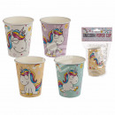 Party paper cup, cartoon unicorn, for about 250 ml