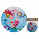 Party paper plate, mermaid, about 23 cm