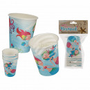 Party paper cup, mermaid, for about 250 ml