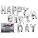Silver Foil Balloon Set, Happy Birthday , 1