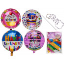 Foil balloon, Happy Birthday , about 45 cm
