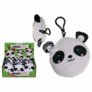 Plush panda with snap hook & sound (incl