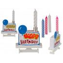 Topper do ciasta z muzyką, Happy Birthday