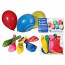 Les ballons en latex, partie couleur, D: 22 cm, 10