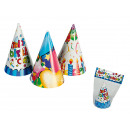 Paper party hat, Happy Birthday, ca. 15 cm, 3 ass.