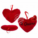 Red plush heart, Te Quiero, approx. 10 cm, 48 piec
