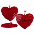Red plush heart, Te Quiero, approx. 26 cm