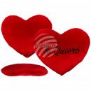Red jumbo plush heart, Te Quiero, approx. 60 cm