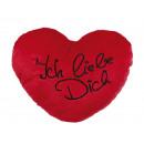 Red plush heart, Ich liebe Dich, ca. 35 cm
