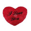 Red plush heart, I love you, ca. 35 cm