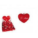 Red plush heart, Ti Amo, ca. 10 cm, 48 pcs. per di