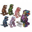 Sand figures, dinosaurs, approx. 16 cm, 6-colored