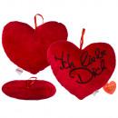 Red plush heart, Ich liebe Dich, ca. 26 cm