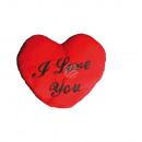 XXL-Red plush heart, I LOVE YOU, ca. 60 cm
