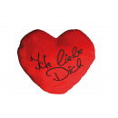 XXL-Red plush heart, ICH LIEBE DICH, ca. 60 cm
