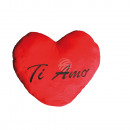 XXL-Red plush heart, TI AMO, c a. 60 cm