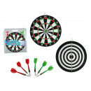 Doppelseitiges Dartspiel mit 6 Darts