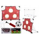 Großhandel Bälle & Schläger: Fußballtor-Set mit Fußball, Pumpe, Netz & Torwand