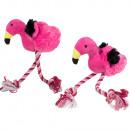 hurtownia Artykuly zoologiczne: Zabawka dla psa, flaming z rosą