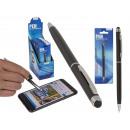 Metal pen with touchscreen stylus