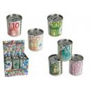 grossiste Epargner boite: Tirelire  métallique,  Billets € avec ...