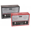 Plastic-Spardose, retro radio, approx. 18 x 12 cm,
