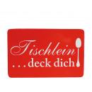 -Melamin  Frühstücksbrett,  Tischlein deck ...