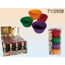 grossiste Gratin moule a patisserie: Moule en silicone,  Cup Cake, env. 6 cm, 4 couleurs