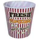 Plastic bucket, Vintage Popcorn, ca. 18 cm
